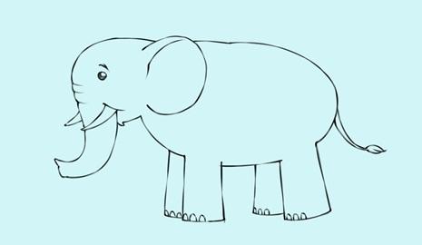 76+ Gambar Anak Gajah Kartun HD